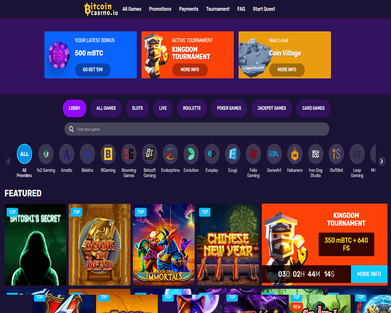Graj na automatach do gier bitcoin w kasynie bitcoin online za darmo